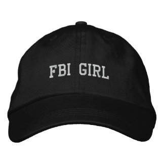FBI GIRL EMBROIDERED HAT