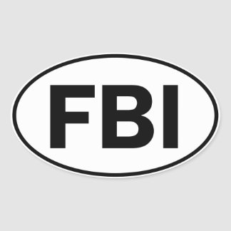 FBI Oval Identity Sign Oval Sticker