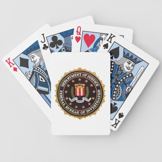 FBI PLAYING CARDS