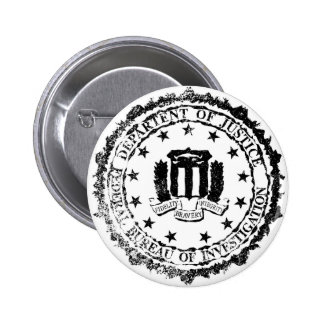 FBI Rubber Stamp 2 Inch Round Button