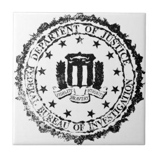 FBI Rubber Stamp Ceramic Tiles