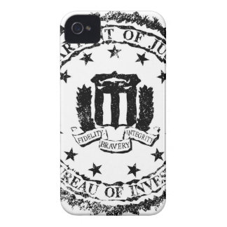 FBI Rubber Stamp iPhone 4 Case-Mate Case
