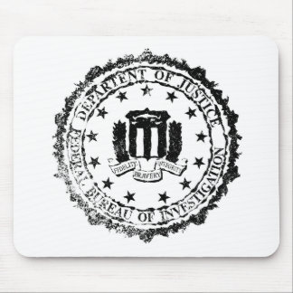 FBI Rubber Stamp Mouse Pad