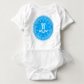 FBI Seal In Blue Baby Bodysuit