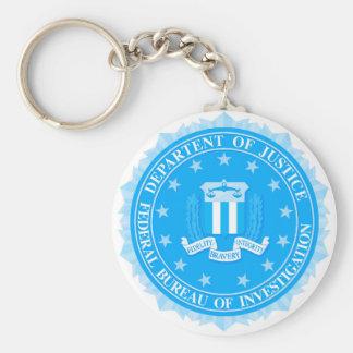 FBI Seal In Blue Basic Round Button Keychain