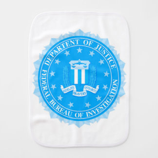 FBI Seal In Blue Burp Cloth