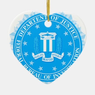 FBI Seal In Blue Ceramic Ornament