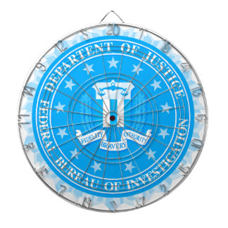 FBI Seal In Blue Dartboard