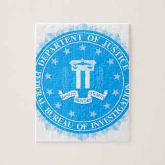FBI Seal In Blue Jigsaw Puzzle