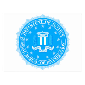 FBI Seal In Blue Postcard