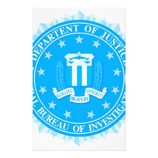 FBI Seal In Blue Stationery