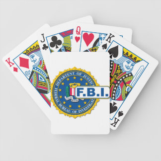 FBI Seal Mockup Bicycle Playing Cards