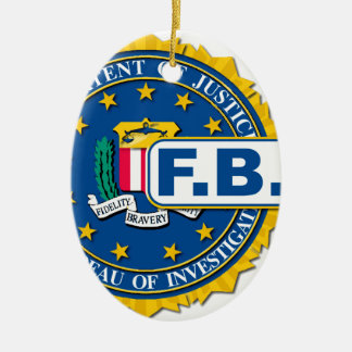 FBI Seal Mockup Ceramic Ornament