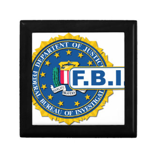 FBI Seal Mockup Gift Box