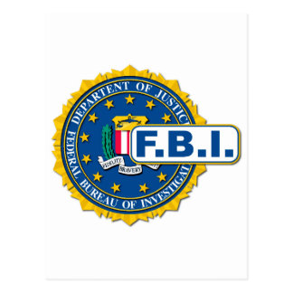 FBI Seal Mockup Postcard