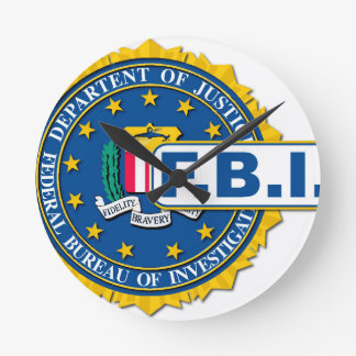 FBI Seal Mockup Round Clock