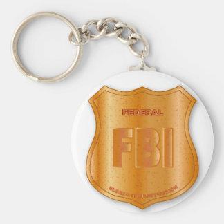 FBI Spoof Shield Badge Basic Round Button Keychain