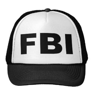FBI TRUCKER HAT