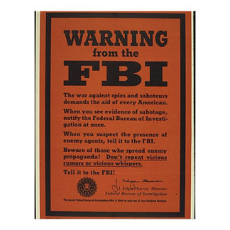 FBI Warning Custom Letterhead