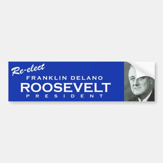 FDR bumper sticker