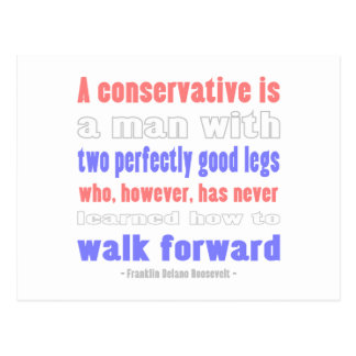 FDR Defines COnservatives Postcard