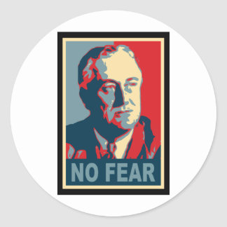 FDR No Fear Classic Round Sticker