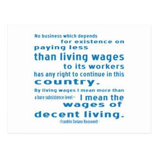 FDR on Wages Postcard
