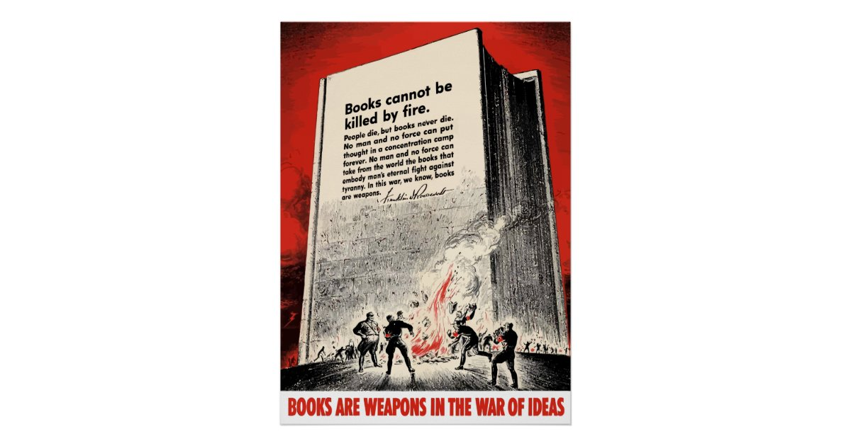 Fdr quote on book burning poster for 51090 text