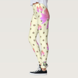 FD's Collection- Dots and Bows Leggings XL 53086F4