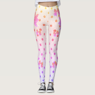 FD's Collection- Dots and Bows Leggings XS 53086H
