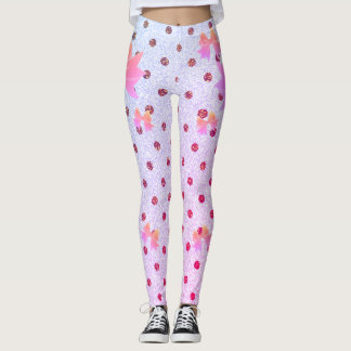 FD's Collection- Dots and Bows Leggings XS 53086I
