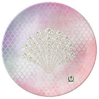 """FD's Mermaid 8.5"""" Porcelain Plate 53086"""