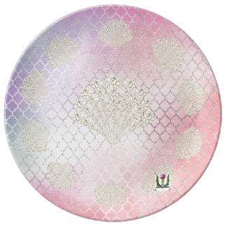 "FD's Mermaid 8.5"" Porcelain Plate 53086A1"