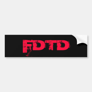 FDTD Bumper Sticker