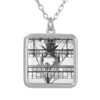 FE_2b_two_seater_biplane_model_RAE-O908 Silver Plated Necklace