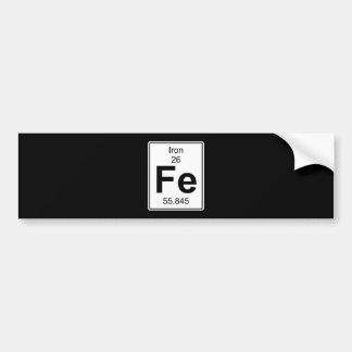 Fe - Iron Bumper Sticker