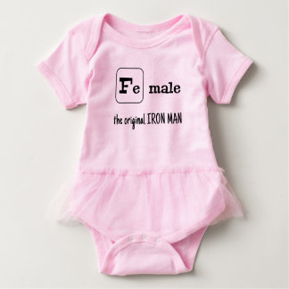 Fe male sports pun iron element baby bodysuit