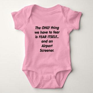 fear airport screener baby bodysuit