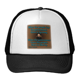 Fear and Government Mesh Hats