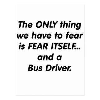 Fear Bus Driver Postcard