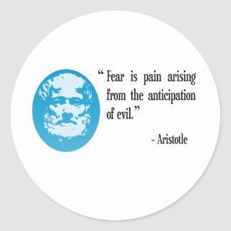fear evil quotation stickers