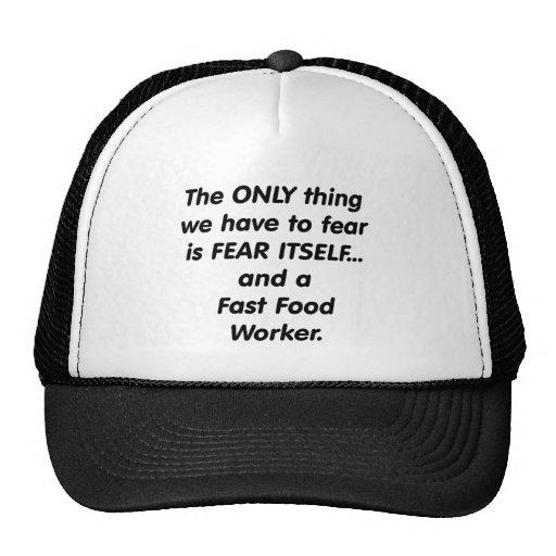 fear fast food worker hats