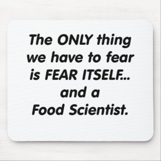 fear food scientist mouse pad