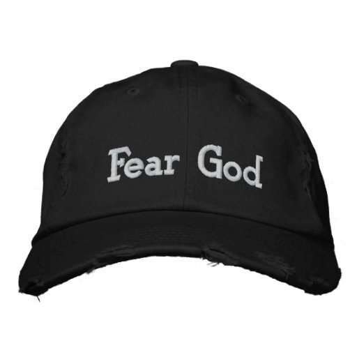 Fear God Embroidered Baseball Caps