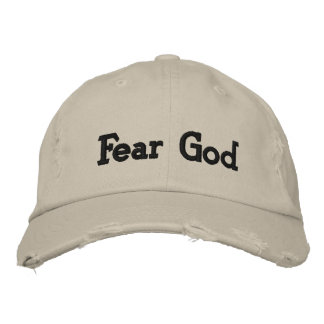 Fear God Embroidered Baseball Cap