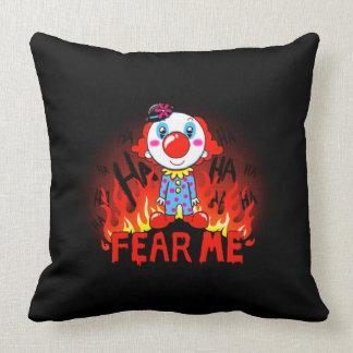 Fear Me Clown Throw Pillow