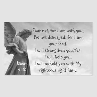 Fear Not, Isaiah Scripture Comforting Angel Sticker