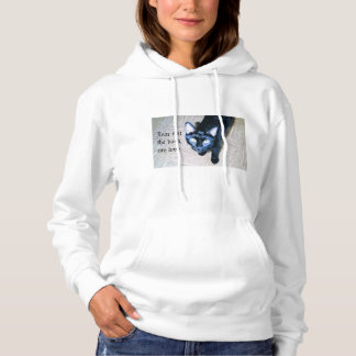 Fear Not the Dark Black Cat Hoodie Sweatshirt
