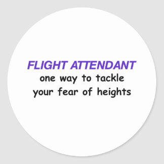 Fear of Heights Classic Round Sticker
