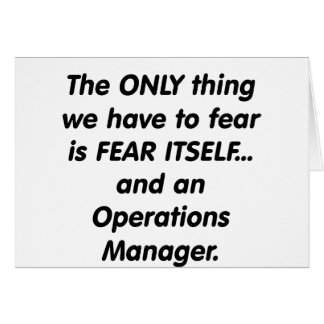 fear operations manager card